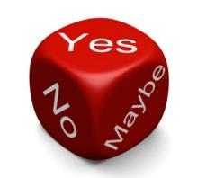 Picture of decision dice